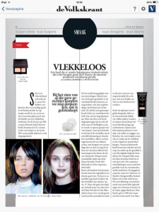 Volkskrant Magazine beauty